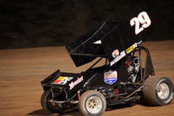 Brandon Hahn, from Tulsa, Oklahoma, is enjoying his rookie year as a sprint car driver