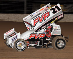 Missouri native, Brian Brown, is responsible for the number 21, 360 sprint car