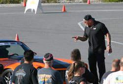 Some last-minute tips from TV personality Bill Goldberg as Brian prepares to race