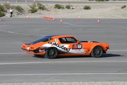 Brian Hobaugh takes off at the start in the Road Course Hot Lap