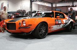 Brian Hobaugh's '73 Camaro at SEMA 2012 in the Wilwood booth