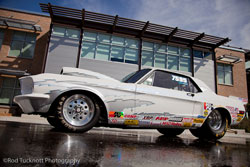 Their family made the purchase of a beautiful 1967 Mustang and he returned to the track in 2010 to compete in NHRA Super Gas class racing.