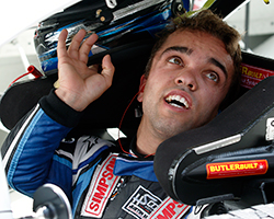 NASCAR K&N Pro Series East rookie Rico Abreu earned the pole position for the 2015 Visit Hampton 175 at Langley Speedway in Hampton, Virginia