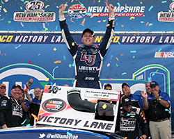William Byron's NASCAR K&N Pro Series East win at New Hampshire Motor Speedway extended his lead in the championship standings