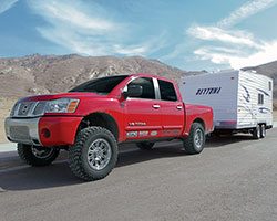 2006 Nissan Titan 5.6-liter V8 models with K&N air intake system