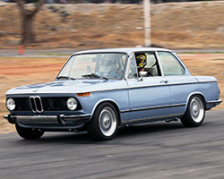 After Chris Forsberg turned out several solo laps in the Clarion Builds BMW 2002 it was time to start giving ride alongs