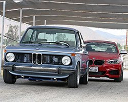 The New Class of sport sedans created by the BMW 2002 helped establish BMW's notoriety in the compact sporting sedan market