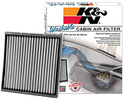 K&N washable, replacement cabin air filter