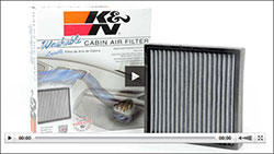 Click the image above to view an informative video on the importance of changing a cabin air filter and the benefits of using a K&N cabin air filter