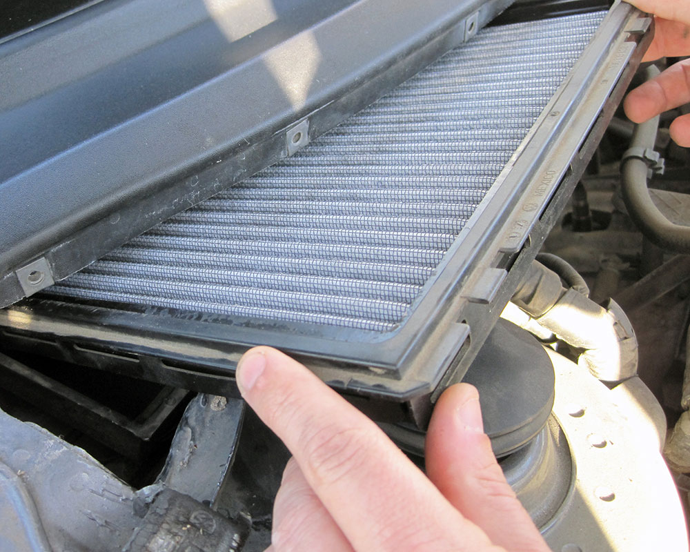 Most cabin air filters can be replaced without tools and are commonly found  under the hood