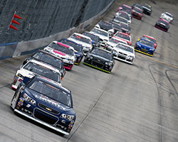 NASCAR K&N Pro Series East points Champ, and Sunoco rookie of the year, William Byron led the field to green before leading 57 laps at the Monster Mile and bringing home 9th place