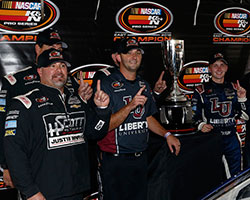 NASCAR K&N Pro Series East rookie Collin Cabre had never driven the Monster Mile in Dover, Delaware but got his first win in a car powered by an engine built in the K&N Engine Room at NTI