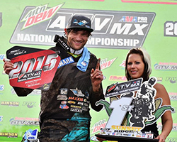 Chad Wienen was at the front of the field aboard his K&N equipped Yamaha YFZ450, taking his third AMA Pro ATV win of 2015