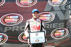 Chase Elliott won the pole for the NASCAR K&N Pro Series West race at Sonoma Raceway in California