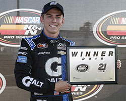 Dalton Sargeant earned the pole position and 21 means 21 Pole Award presented by Coors Light