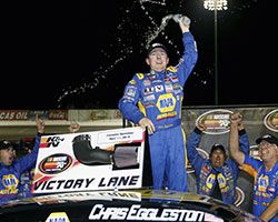 In just his seventh career NASCAR K&N Pro Series start Chris Eggleston has been able to capture two wins