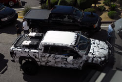 No matter what angle, the Arctic camo wrap on Chris Payne's 2011 Tundra allowed it to shine at SEMA 2012