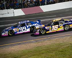 Christian PaHud recovered the lead from Brandon McReynolds on a lap 126 restart and he never looked back taking the Toyota/Napa Auto Parts 150 win at All American Speedway in Roseville