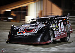 Bubba the Love Sponge's Son Tyler Clem in his K&N equipped #14 Crate Late Model