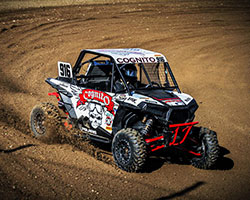 Cody Rahders led every lap of the Production 1000 class of the Lucas Oil Regional Off Road Racing series round five in his number 916 Polaris RZR XP 1000 (Shilynn Milligan Photography)