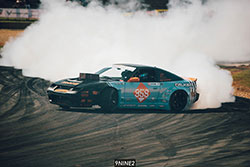 Matt Coffman lost in the first round in the Formula Drift season opener at the Streets of Long Beach