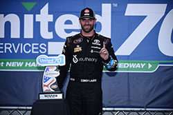 Corey LaJoie won the NASCAR K&N Pro Series East race at New Hampshire International Speedway in his first start of the season.