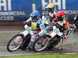 Jason Crump leading, photo by Mike Patrick