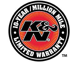 K&N 10-year/million mile limited warranty