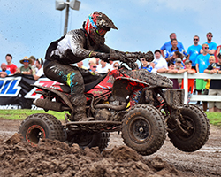 Maxxis/H&M Motorsports' David Haagsma's fifth and fourth place finishes earned him his best overall Mt. Dew ATV MX finish yet