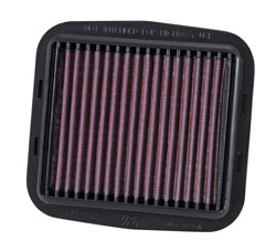 The K&N DU-1112R racing air filter is made with just two layers of cotton instead of four and fewer pleats for even less air restriction