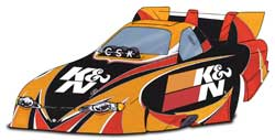 Concept K&N Car Design for the 2006 NHRA Gatornationals