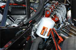 K&N Oil Filter in Del Worsham's Funny Car