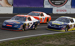 Dylan Lupton led 73 laps during the NAPA Auto Parts/Toyota 150 at Evergreen Speedway but lost the lead in turn four of the final lap letting David Mayhew and Brandon McReynolds past him