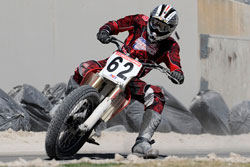 At age 22, Luke Gough looks to be a rising star in the AMA Pro Racing Flat Track Singles Series