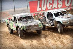 Brad Deberti racing against Brocker Heger