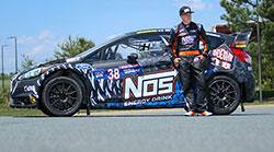 Brian Deegan with his Chip Ganassi Racing rally car