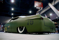 The sliding ragtop and carefully riveted sheet-metal required hours of detail minded attention - SEMA 2012