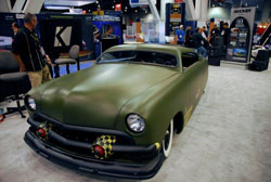 The chopped roof and olive-drab paint provided the Tudor with a appropriately menacing profile - SEMA 2012