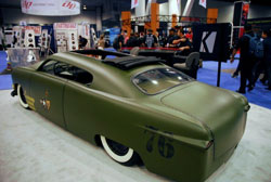 It's hard to imagine that only six months before the 2012 SEMA show this 1951 Ford bomber was a rust bucket