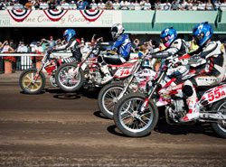 In the main event at the Sonoma County Fairgrounds, Colindres exploded off the line to grab the holeshot