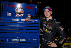 Winning at All American Speedway in Roseville put Dylan Kwasniewski in the NASCAR K&N Pro Series West points lead