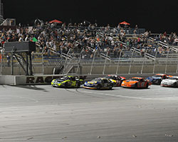 Greg Pursley started the Bakersfield 150 presented by GPS NASCAR K&N Pro Series West race from the pole position and led 128 of 150 laps at Kern County Raceway Park