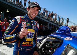 Chase Elliott at K&N Pro Series West race at Sonoma Raceway in California