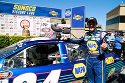 Chase Elliott leads last three laps and won the NASCAR K&N Pro Series West race at Sonoma Raceway in California
