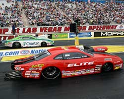 Erica Enders-Stevens defeated fan-vote winner Dave Connolly to become the first female winner in K&N NHRA Horsepower Challenge history