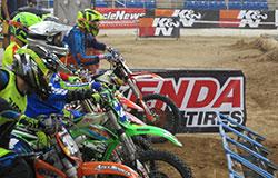 Riders on start line for Endurocross round 4 in Scottsdale, AZ