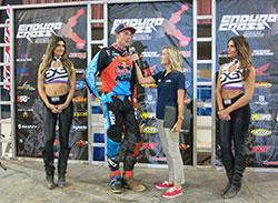 Cody Webb on the podium after Endurcross round 4 in Scottsdale, Arizona