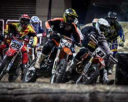 EnduroCross is typically held indoors in an arena where fans can see all the thrills and spills from start to finish