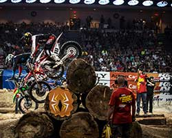 EnduroCross incorporates multiple elements found in off-road riding such as jumps, rocks, boulders, logs, sand, mud, a water hole and anything else the course designer wants