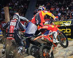 GEICO Motorcycle AMA EnduroCross racing is demanding for the riders and exciting for the fans